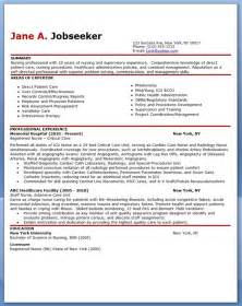 Rn Nursing Resume Exles by Sle Resume No Experience