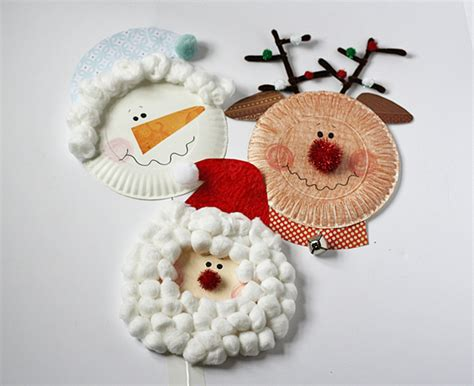 paper plate christmas characters fun family crafts