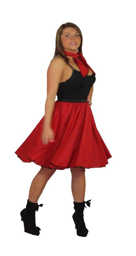 Rok Set Bandana rock n roll skirt scarf set 1950s 1960s fancy dress