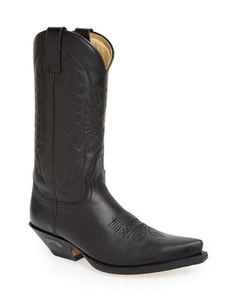sendra reno cowboy boot in black for lyst