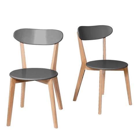 chaises design scandinave lot de 2 chaises design scandinave vitak couleur gris