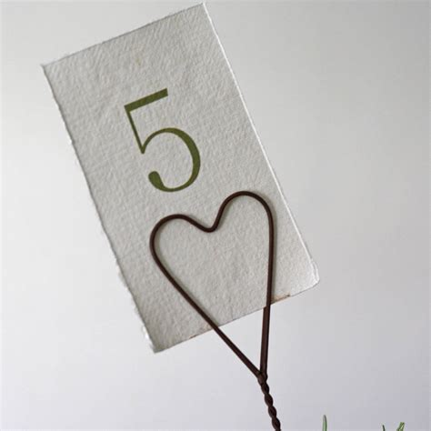 Table Card Holders Heart Table Card Holder By The Wedding Of My Dreams