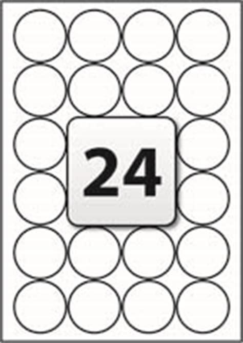 24 label template 24 ter evident labels per a4 sheet 45 mm diameter