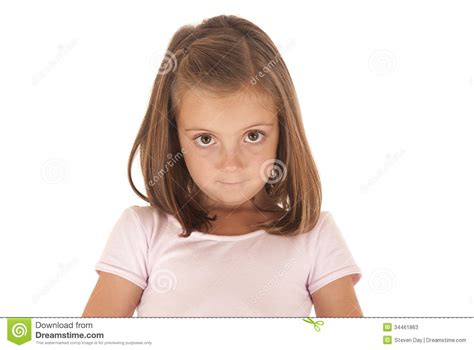 the youngest looking woman young girl with big eyes looking at camera with an stock
