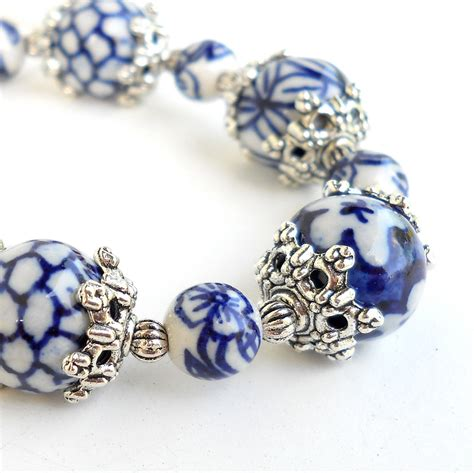 ceramic for jewelry delft blue bracelet delft blue jewelry ceramic