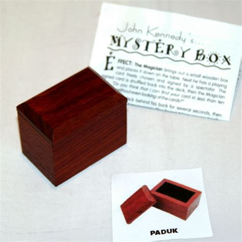 Mystery Box 1 mystery box wood paduk by kennedy martin s magic collection