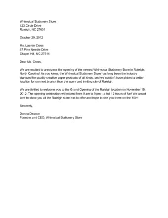 how to write a business letter to customers (with sample