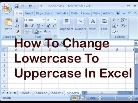 format excel uppercase changing text case in excel 2010 how to instantly change