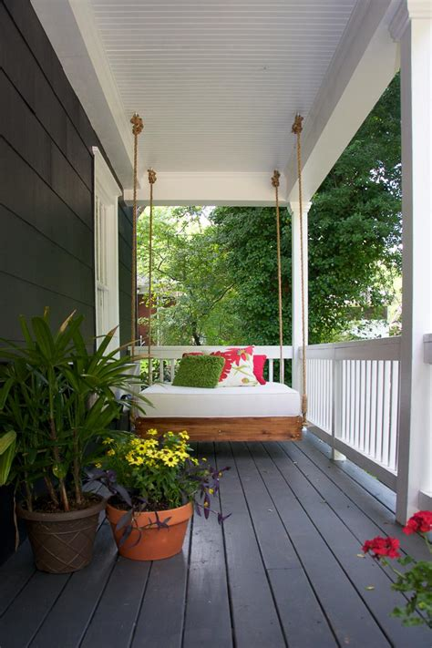 Narrow Porch Decorating Ideas by Curb Appeal Ideas Inviting Outdoor Living Spaces Hgtv