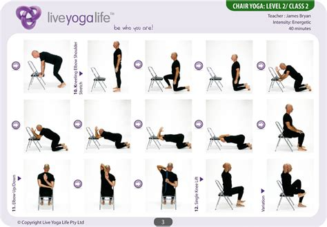 printable chair yoga poses for seniors yoga with a chair complete set classes 1 to 7 live