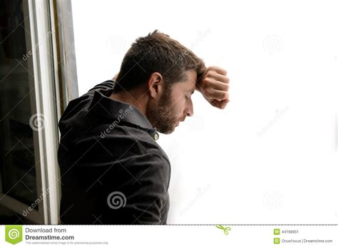 3d Home Design No Download Attractive Man Leaning On Window Suffering Emotional