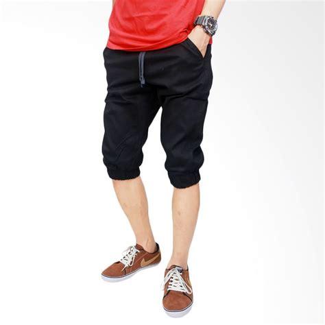 E Celana Pendek Pria Stretch jual gudang fashion stretch cln 665 hitam celana jogger pria harga kualitas terjamin
