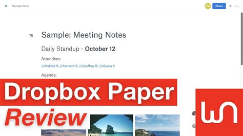 dropbox paper review dropbox paper review youtube