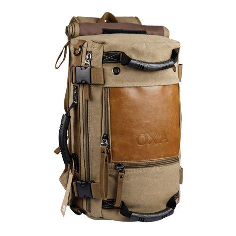canvas duffle backpack oxa canvas backpack travel bag duffel bag rucksack laptop