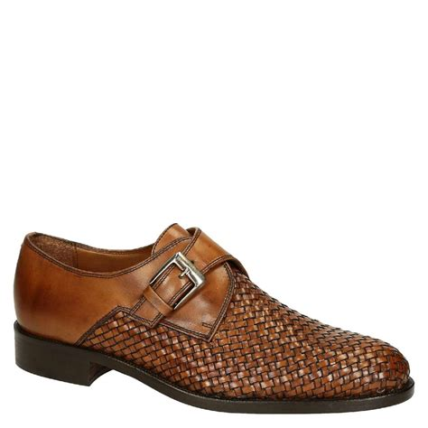 Shoes Handmade - woven leather single monkstrap shoes handmade
