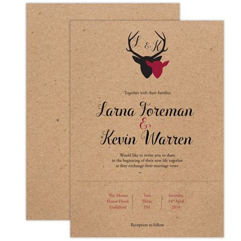 deer wedding invitations the stag wedding invitation stationery and templates cheap