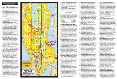 manhattan map of attractions manhattan tourist attractions map