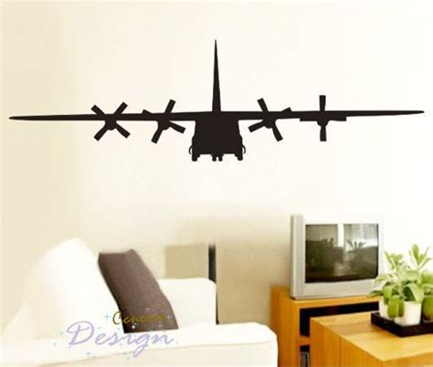 army home decor big c130 military army airplane 75by22 inch art graphic