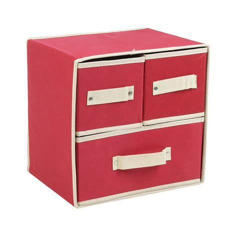 collapsible fabric 3 drawer storage boxes containers bits