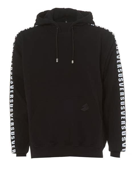 Sweater Jaket Hoodie Eiger Logo versus versace mens black hoodie sleeves text logo