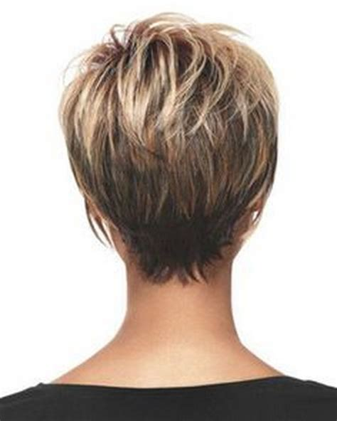 short haircuts women over 50 back of head older women short hairstyles back view
