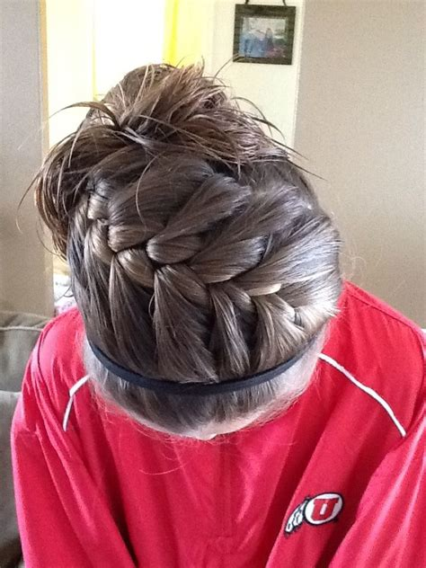 pin by chelsey olshenske on soccer softball basketball hair styles athletic hairstyles