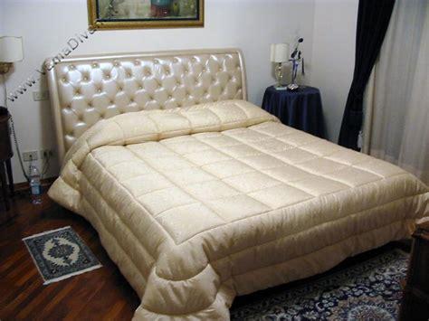 ladario nero letto matrimoniale con testata a quadri in pelle cuciti