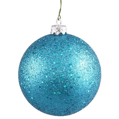 vickerman 35186 8 quot turquoise sequin ball christmas tree