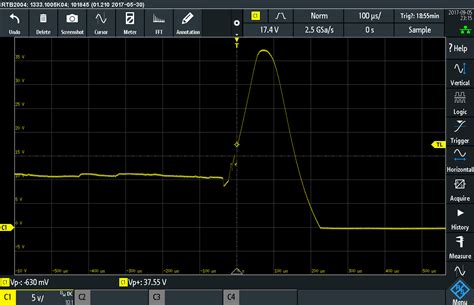 flyback diode oscilloscope voltage spike in fan combination killing fan electronicsxchanger queryxchanger