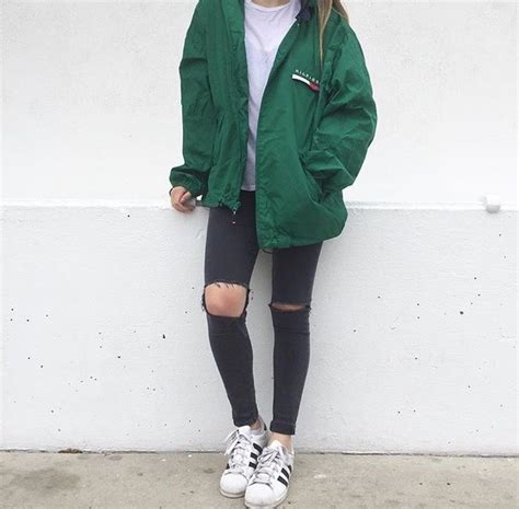 Jaket Emerald Adidas jacket oversized windbreaker hilfiger green