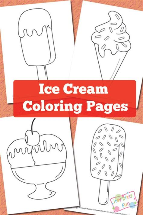 summer ice cream coloring pages ice cream coloring pages free printable summer and craft