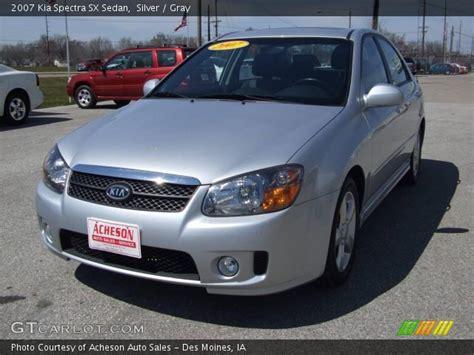 2007 Kia Spectra Sedan Silver 2007 Kia Spectra Sx Sedan Gray Interior