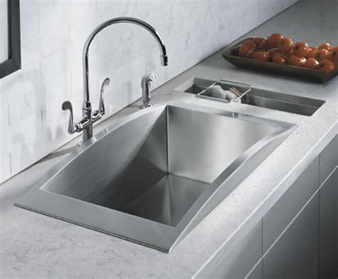 kitchen sinks and faucets designs stunning modern kohler stainless steel chrome faucets design olpos design
