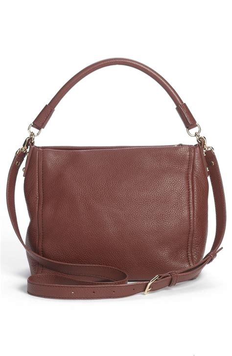 kate spade new york 1419717871 lyst kate spade new york cobble hill little curtis leather crossbody bag in brown