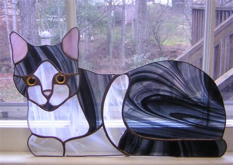 stained glass cat all about cats march 2011