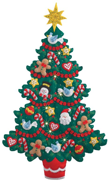 Kaos Merry 08 Natal merry and bright tree bucilla wall hanging kit
