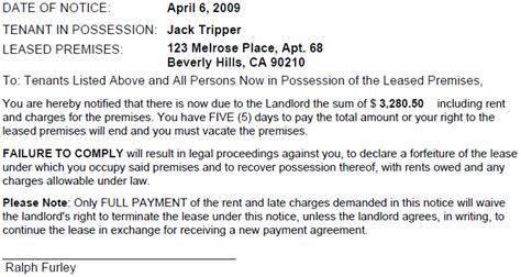 Virginia 5 Day Notice To Pay Or Vacate Ez Landlord Forms Pay Or Quit Notice Virginia Template