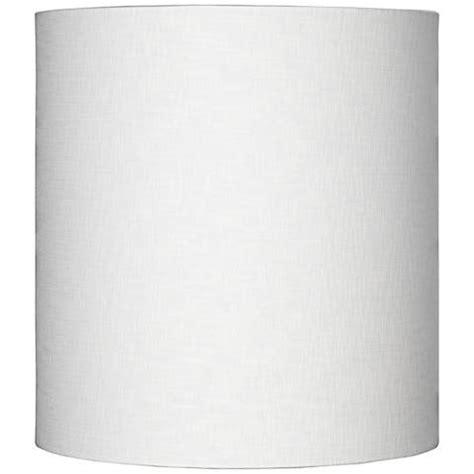 tall white linen white tall linen drum shade 14x14x15 spider 8m865