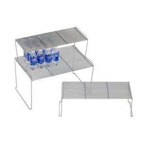 medium flat wire stacking shelves kitchen organizational