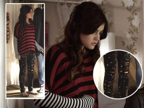 dress like pretty little liars fashion style clothes from the jeans pretty little liars aria montgomery lucy hale