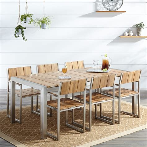 outdoor dining table modern teak outdoor dining table home ideas collection