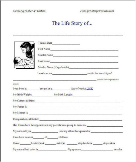 template for autobiography 7 best images of printable autobiography template bio
