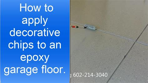 how to apply decorative chips or flakes to an epoxy garage floor youtube