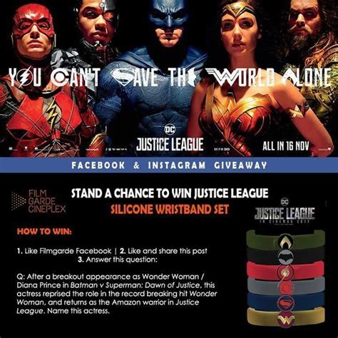 League Giveaway - 13 19 nov 2017 filmgarde cineplexes justice league giveaway sg everydayonsales com