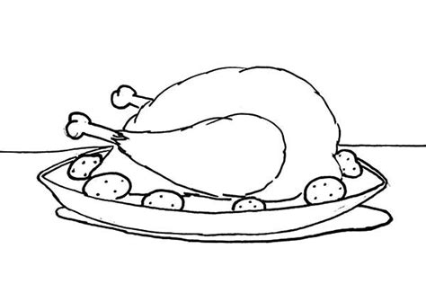 coloring pages fried chicken drawing chicken drumstick coloring pages download
