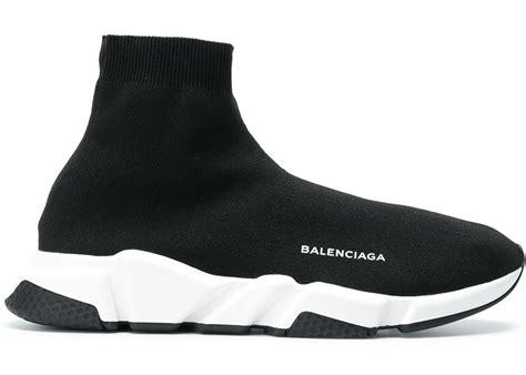 balenciaga speed trainer black white 2018 506363 w05g0