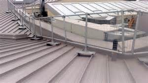 roof handrail safety railing for your metal roof keeguard metal roof