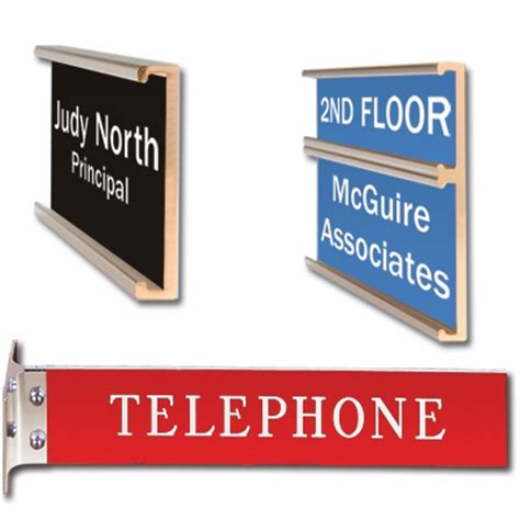 White Gloss Desk Custom Plastic Door Signs Ocarc