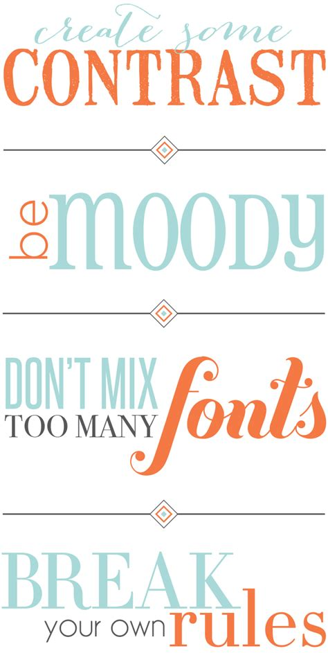 design font rules tip tuesday i the art of combining typefaces pop and grey
