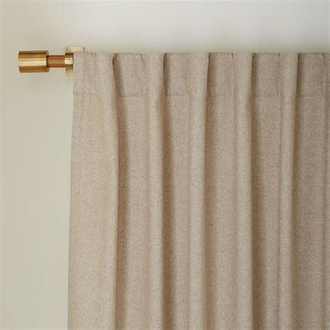 oatmeal curtains heathered wool curtain oatmeal west elm